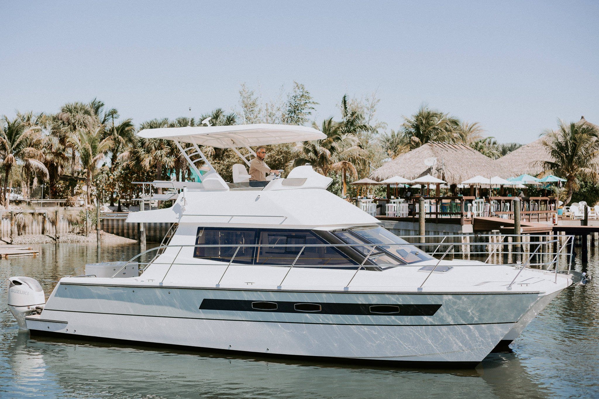 Boat exterior on the water